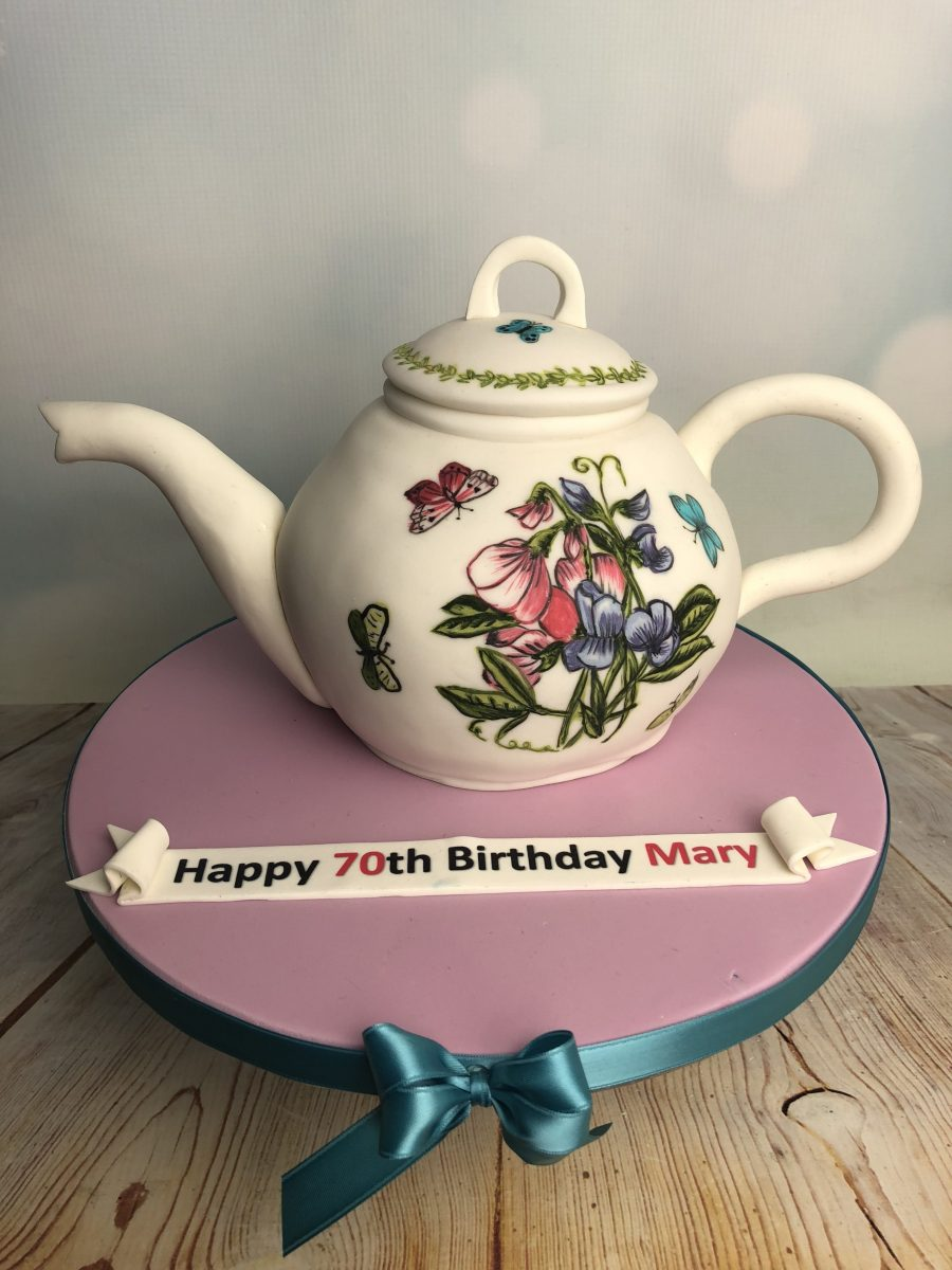 Strange Portmeirion Teapot Cake Mels Amazing Cakes Personalised Birthday Cards Cominlily Jamesorg