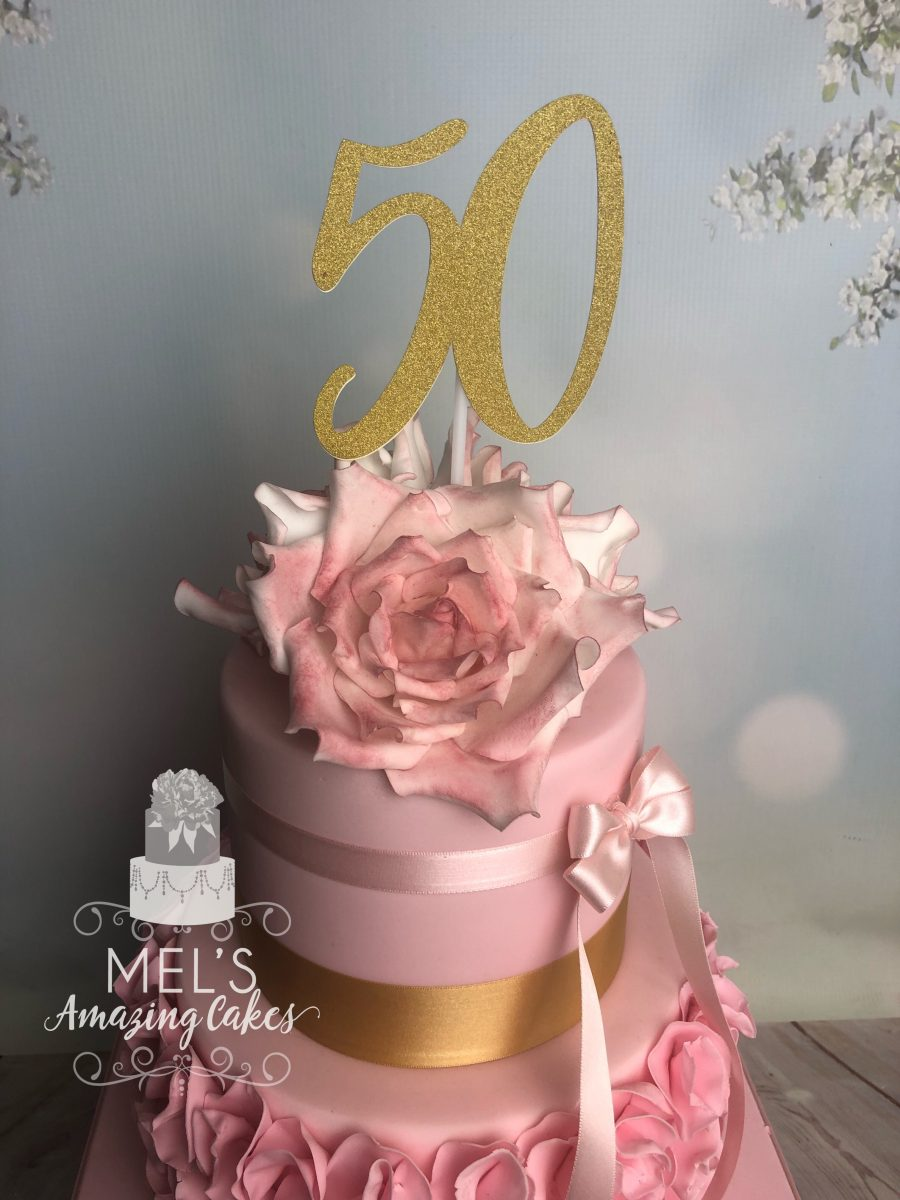 Sensational 50Th Birthday Cake Mels Amazing Cakes Funny Birthday Cards Online Alyptdamsfinfo