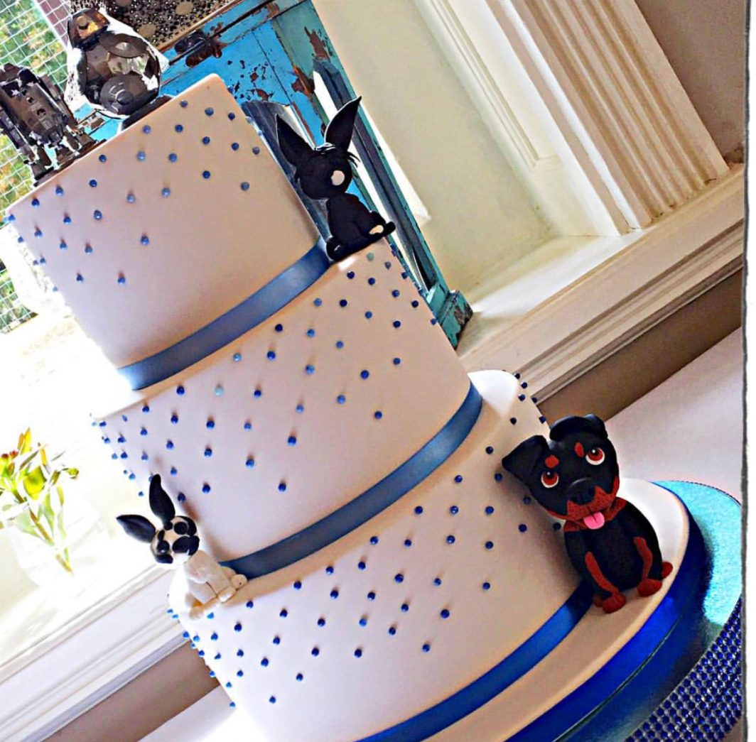 Wedding Cake with Pet Figures