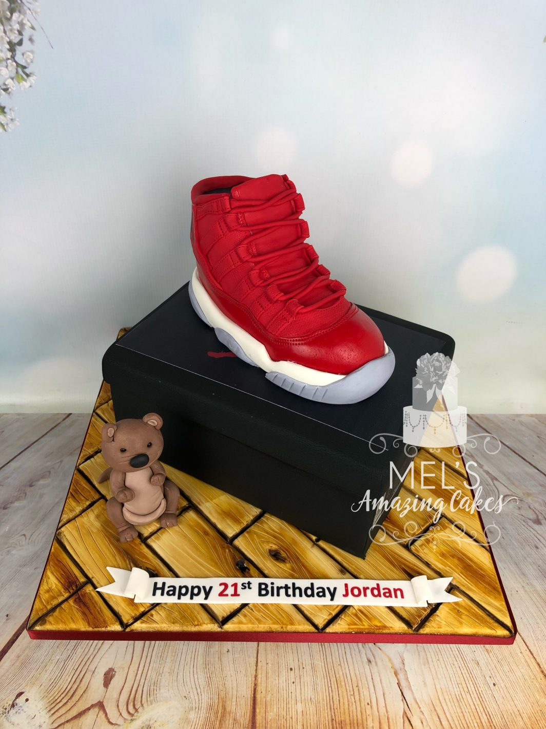 Training Shoe and Shoebox Cake
