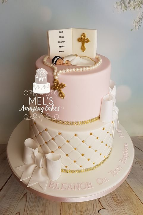 Quilting Effect Christening Cake