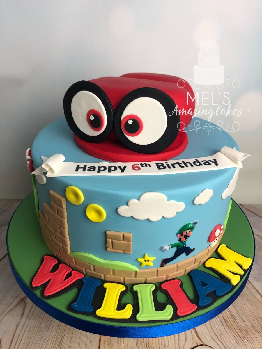 Fine Super Mario Themed Cake Mels Amazing Cakes Funny Birthday Cards Online Alyptdamsfinfo