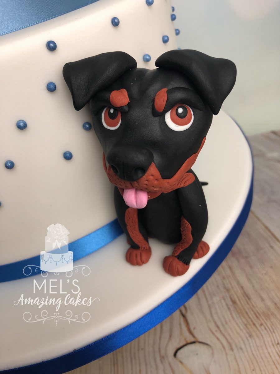 Wedding Cake with Pet Figures