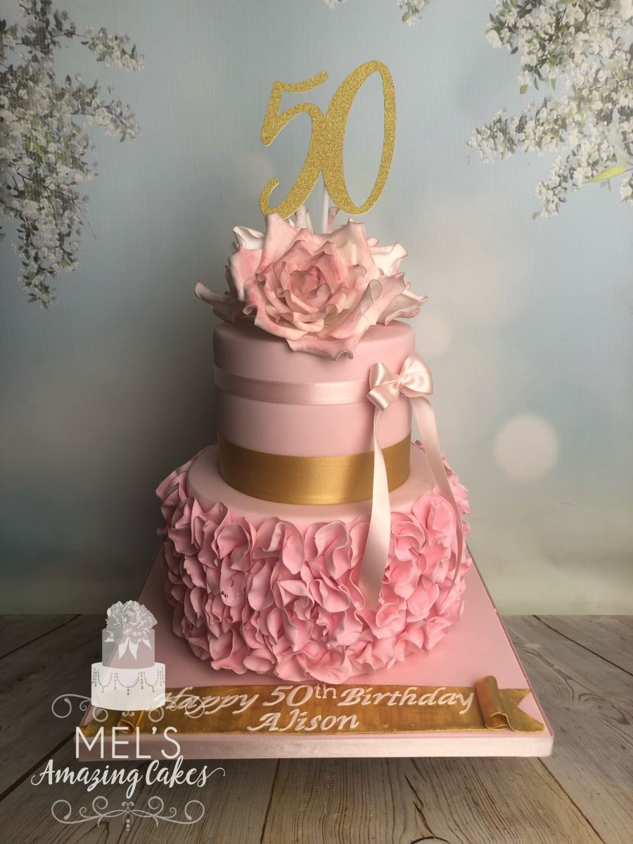 Peachy 50Th Birthday Cake Mels Amazing Cakes Funny Birthday Cards Online Aeocydamsfinfo