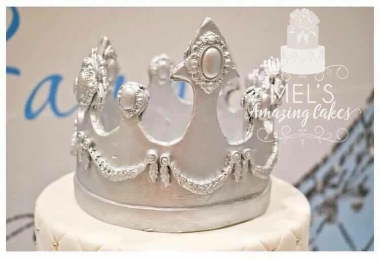 Pale Blue Christening Cake