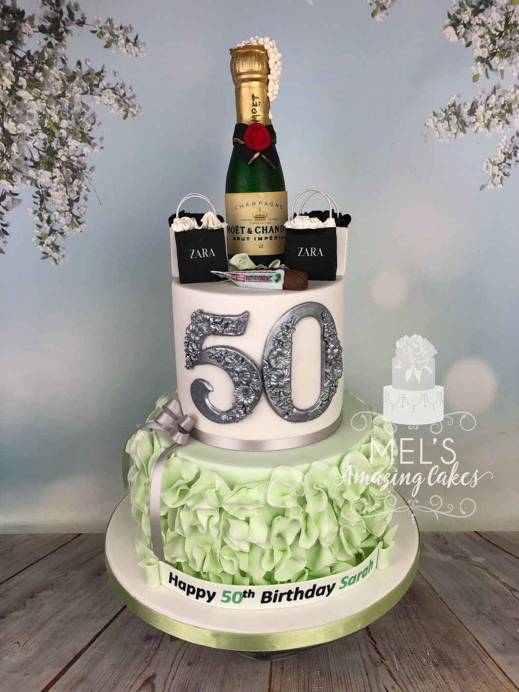 Fabulous Prosecco And Shopping 50Th Birthday Cake Mels Amazing Cakes Personalised Birthday Cards Paralily Jamesorg