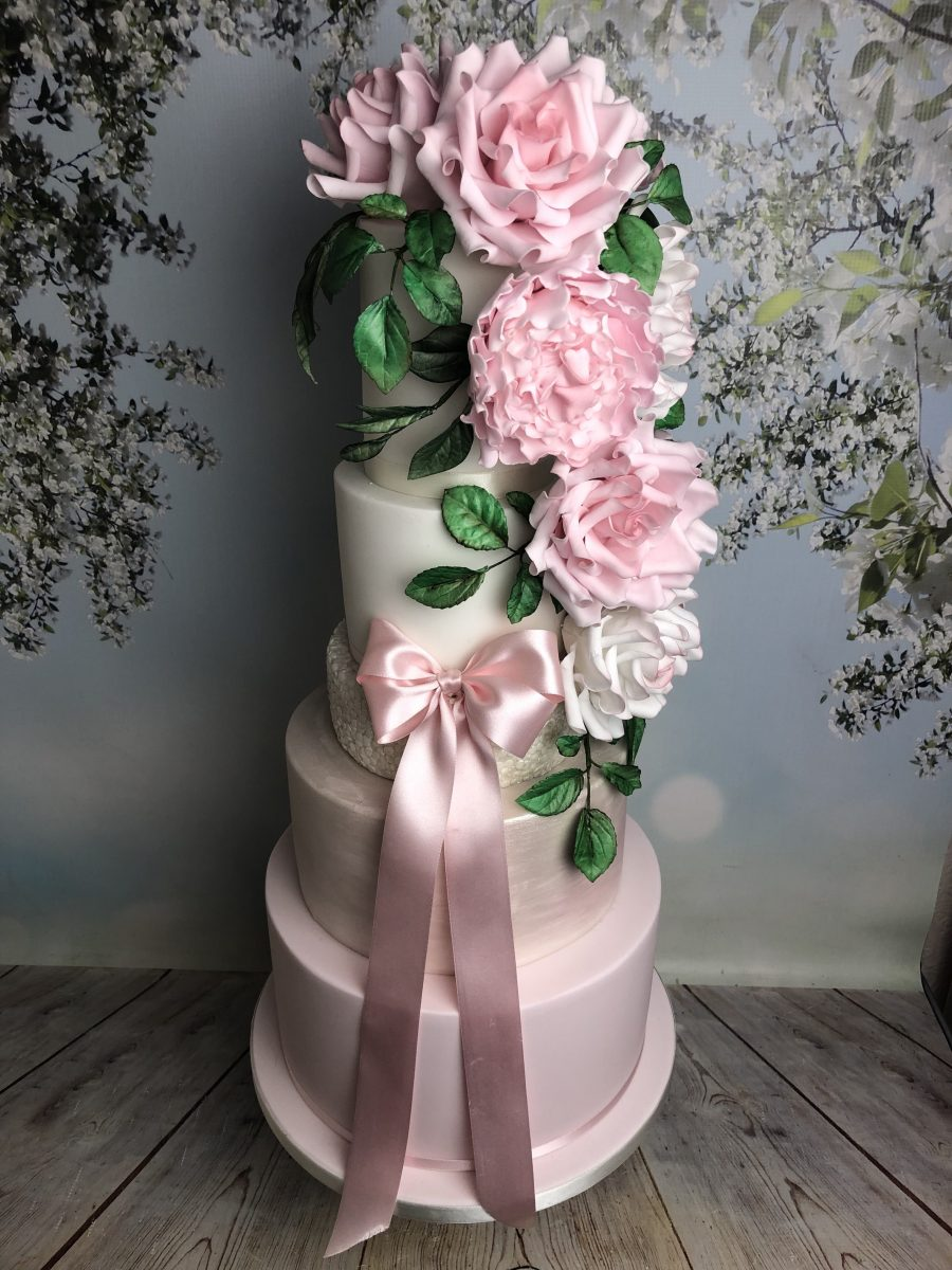 Pastel Colour Wedding Cake