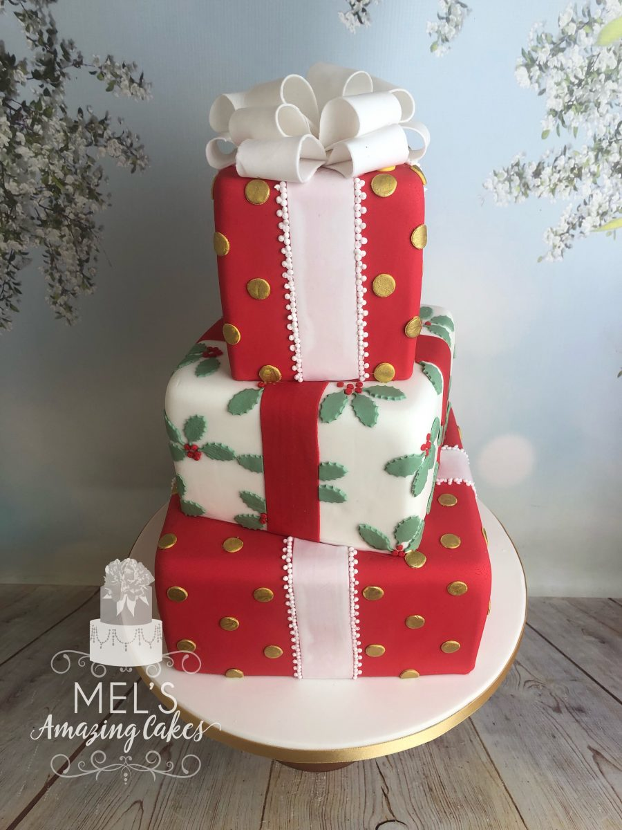 Christmas Parcel Wedding Cake