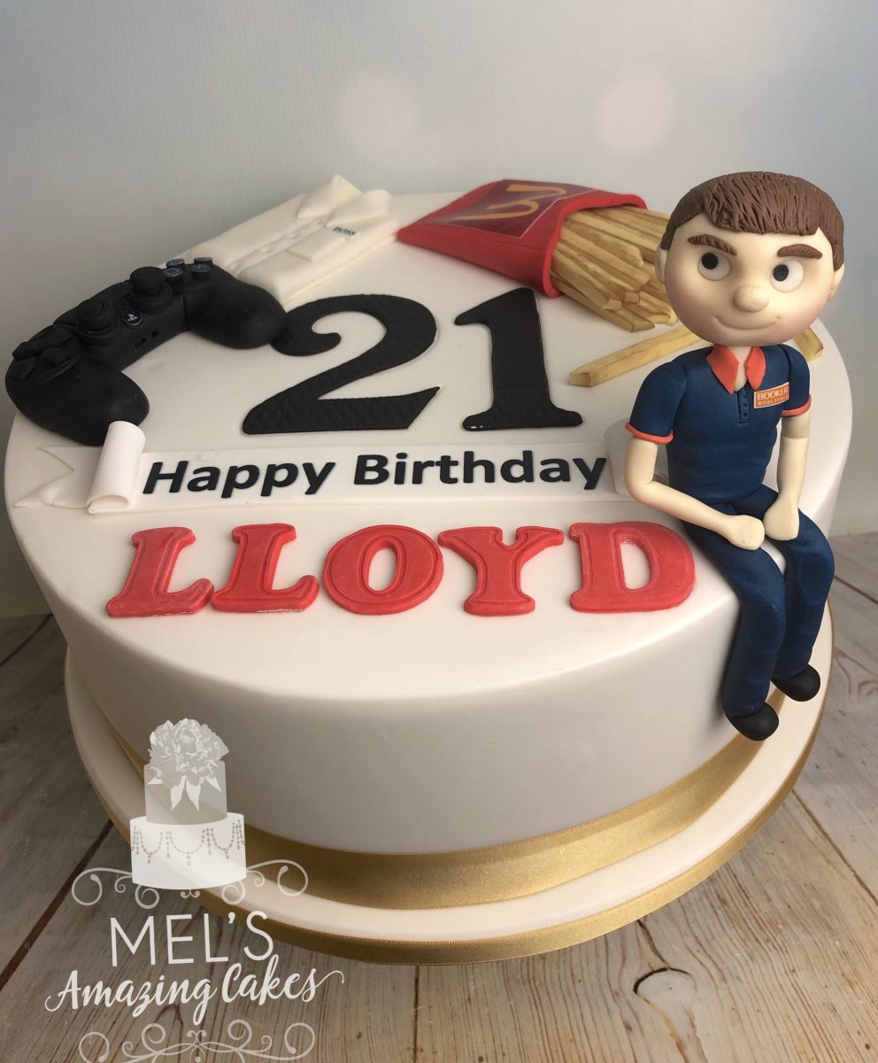 Awe Inspiring 21St Birthday Cake Mels Amazing Cakes Personalised Birthday Cards Beptaeletsinfo