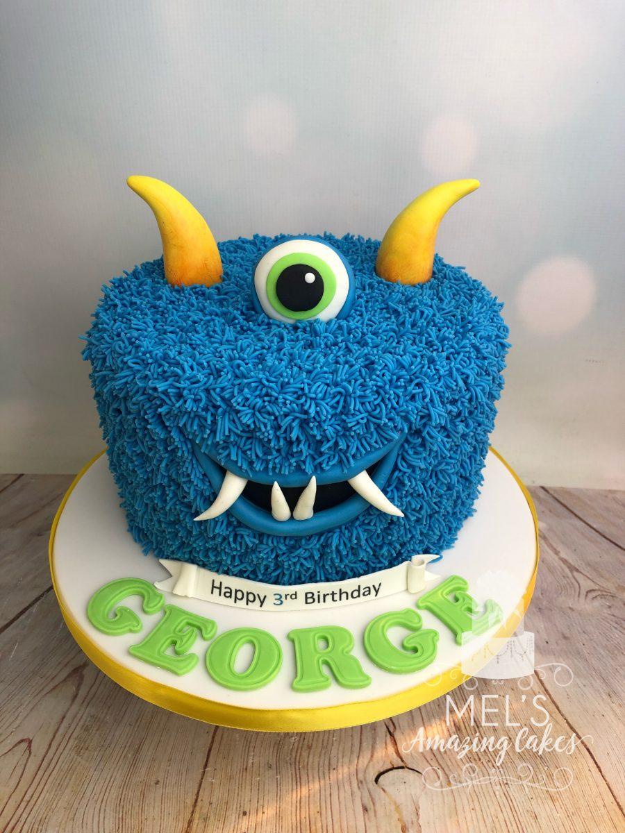 Tremendous Monster Birthday Cake Mels Amazing Cakes Personalised Birthday Cards Arneslily Jamesorg